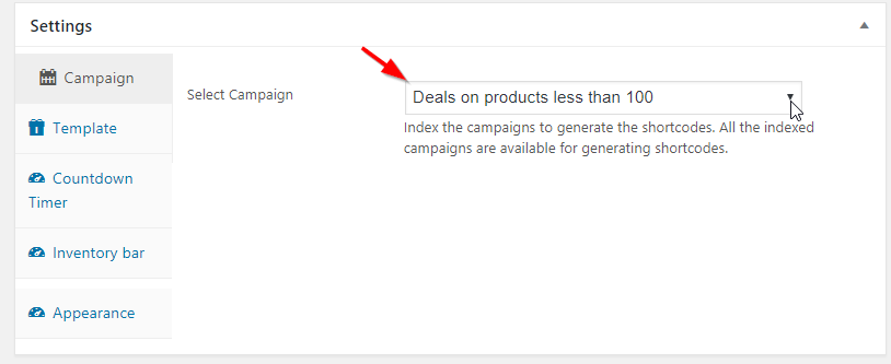 woocommerce deals select campaign
