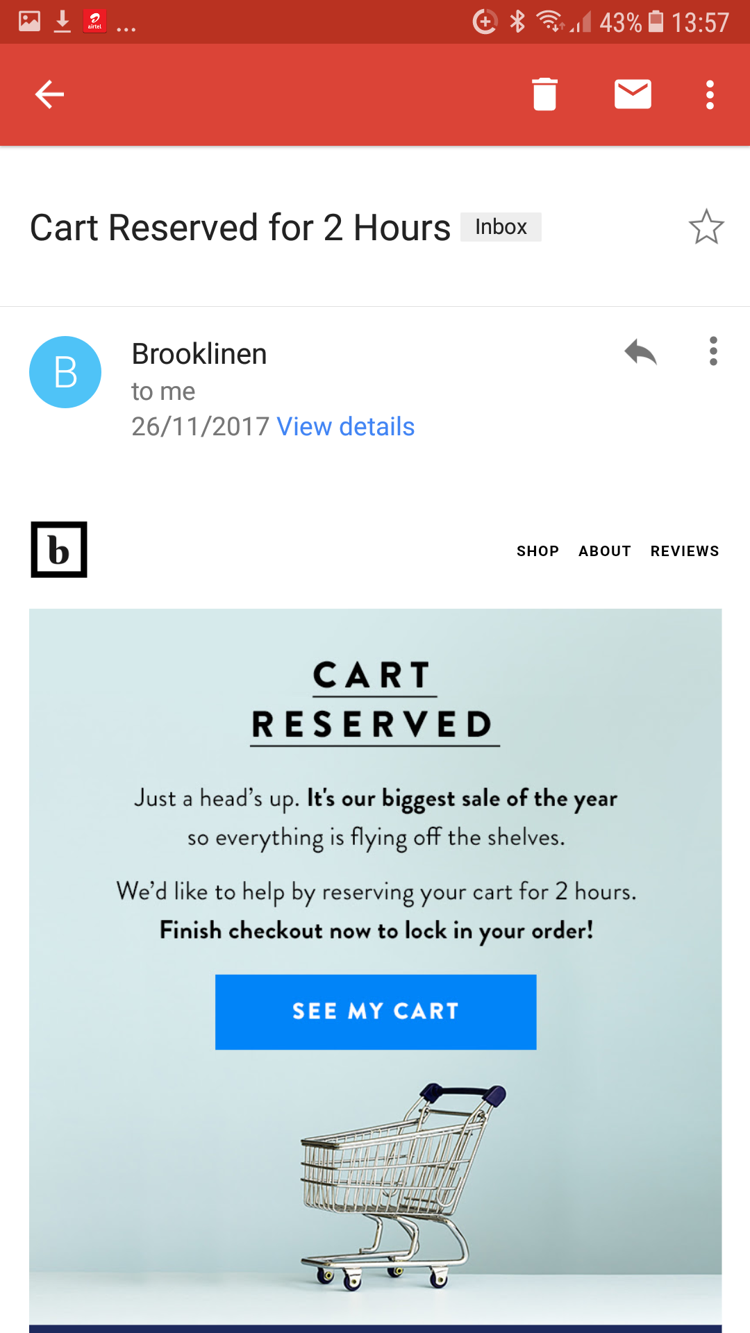 woocommerce cart abandonment - mobile optimized email