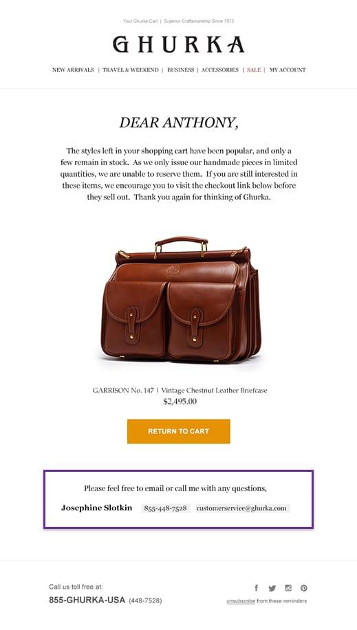 woocommerce cart abandonment email personalized