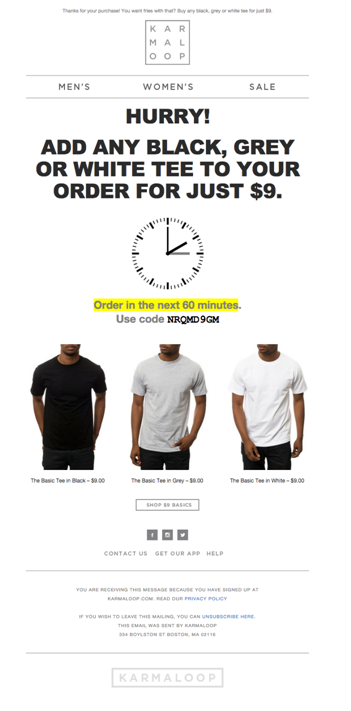 woocommerce order email with coupon code
